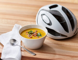 Butternut Squash Soup with Maple-Pancetta Garnish