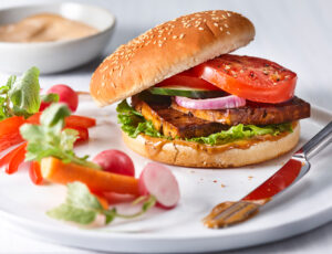 Grilled Maple Tofu Burgers