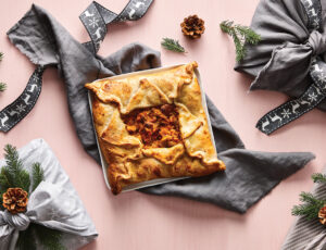 Maple-tastic Turkey, Sweet Potato, and Foie Gras Sheet Pie