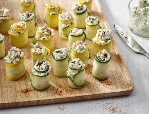 Maple Zucchini-Ricotta Roll-Ups