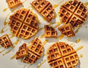 Maple Sugar Belgian (Liegeoise) Waffles