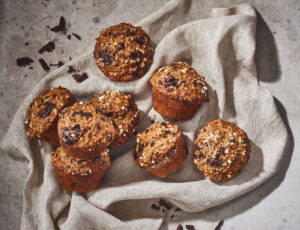 Maple Dark Chocolate Muffins