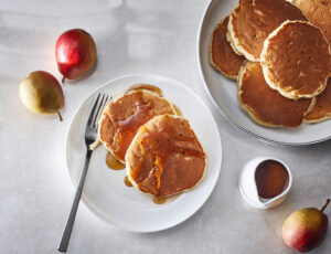 Maple-Pear Pancakes