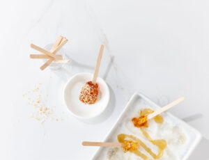 Maple Taffy and Coconut