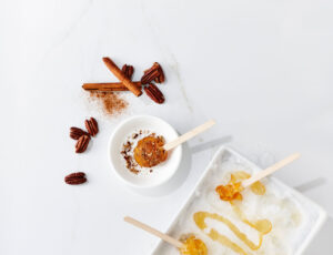 Maple Taffy and Cinnamon Pecans