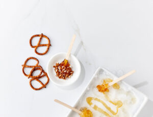 Maple Taffy and Pretzels